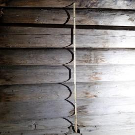 Pjåla stokkar. Foto: Roald Renmælmo