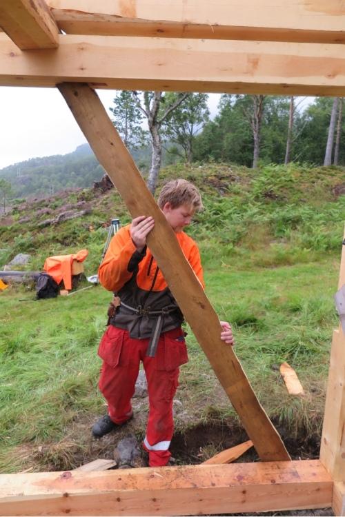 Tilpasning av strevar etter at bygget er oppført. Dette er ein strevarmal som vert brukt til måling.