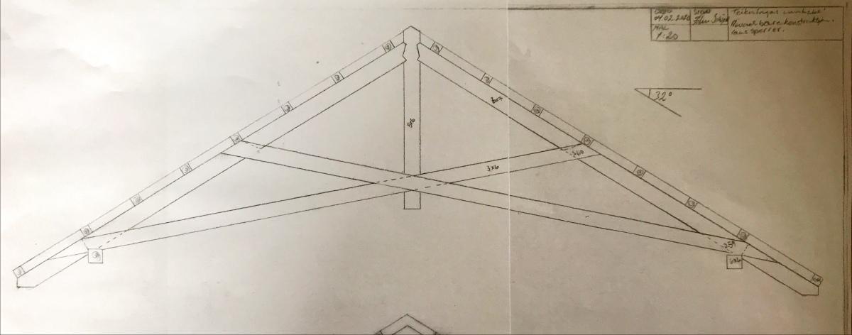 Planleggingsfase, tilbygg på verkstad i stavkonstruksjon