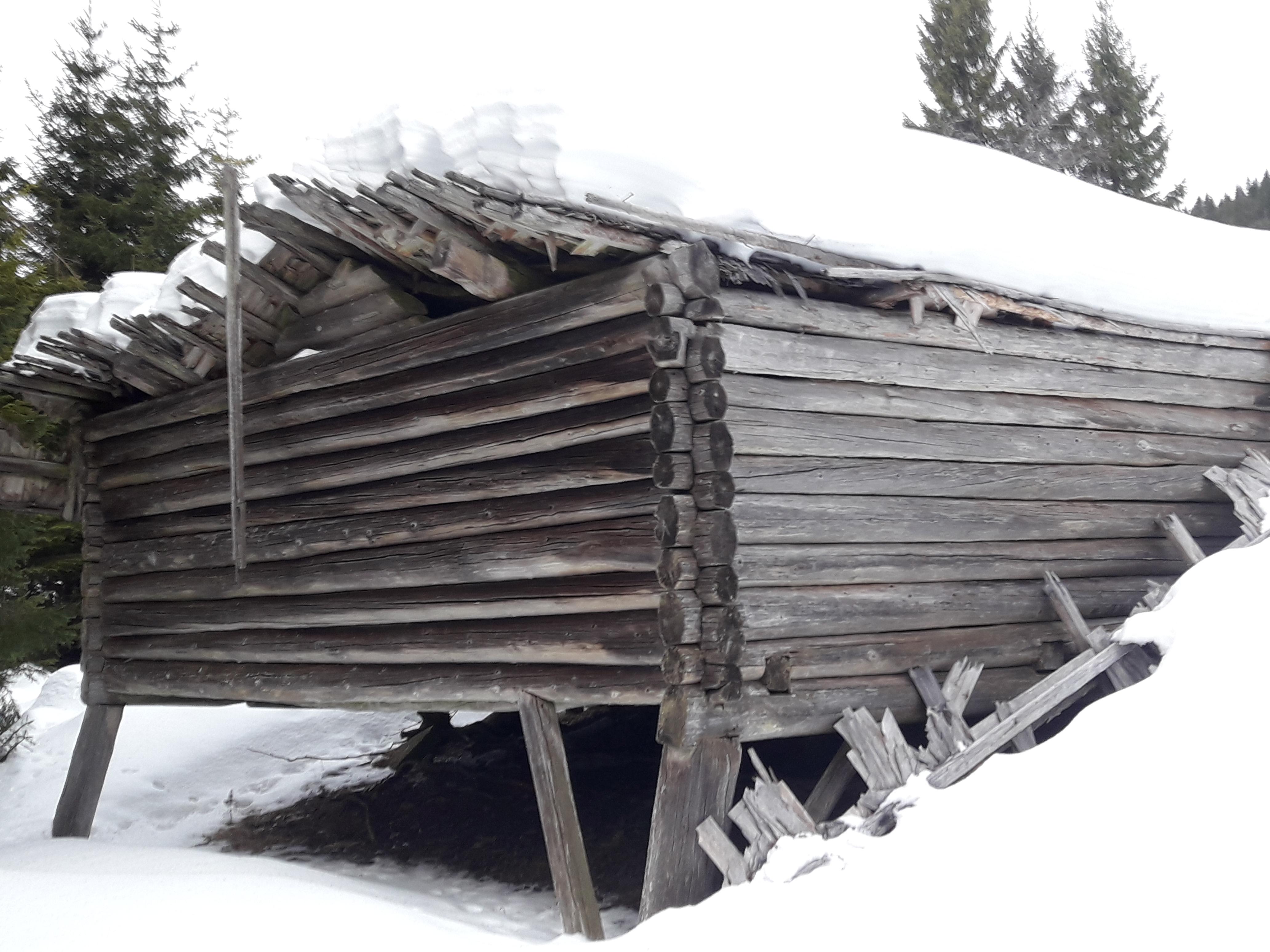 Bilde nr 1.Løa vinteren 2019